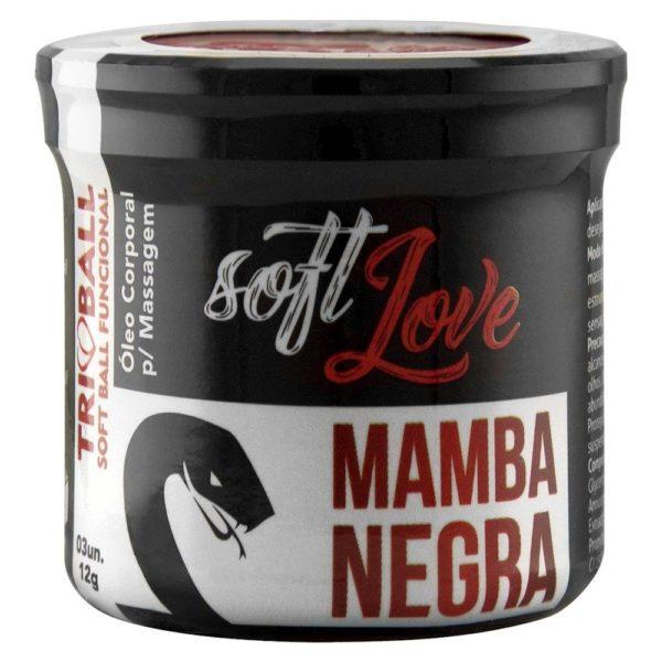 Bolinha Explosiva Mamba Negra com 3 unidades