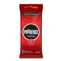 Preservativo Lubrificado embalagem com 6 unidades